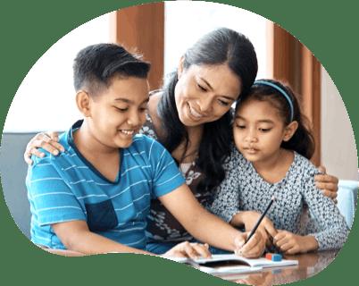 Image: Family Doing Homework