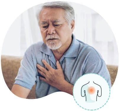 Image: Man Experiencing Chest Tightness