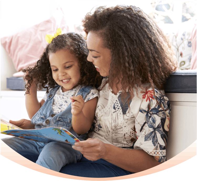 Banner: Parent Reading to Child