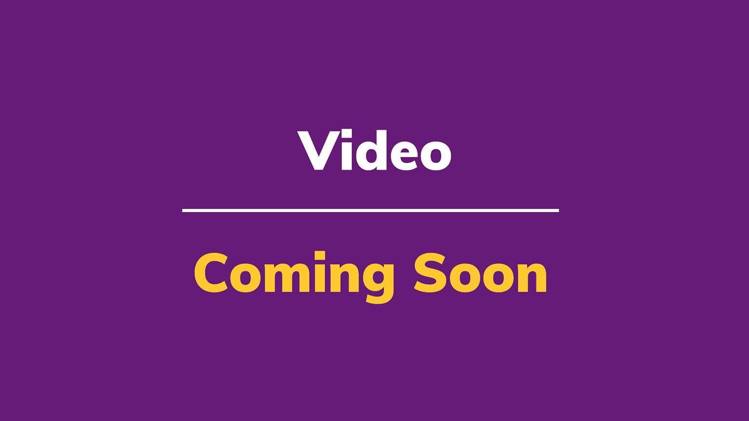Thumbnail: Video Coming Soon