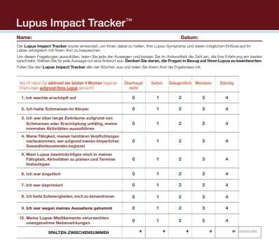 BIld Lupus Impact Tracker