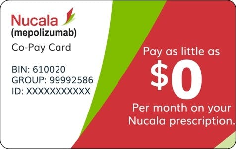 Image: NUCALA Voucher Card