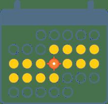 Scheduling calendar icon