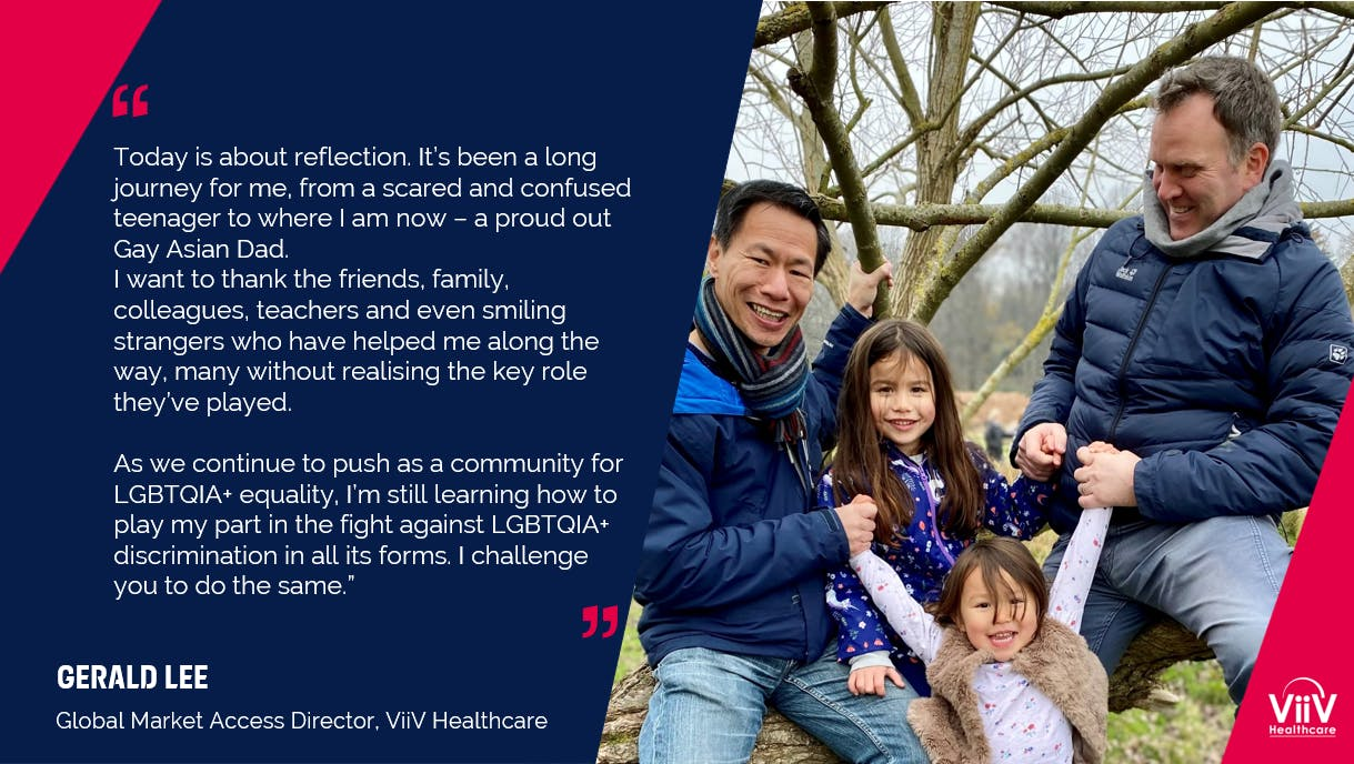 ViiV Healthcare's Global Market Access Director, Gerald Lee, shares what Pride means to him as a proud our Gay Asian dad.