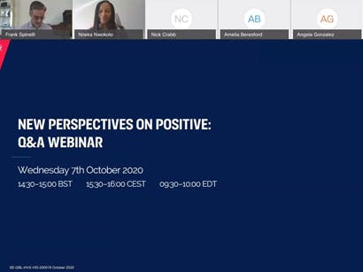 New Perspectives on Positive: Webinar with the Positive Perspectives Study team at HIV Glasgow 2020